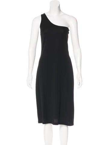 Calvin Klein Collection One-Shoulder Midi Dress None