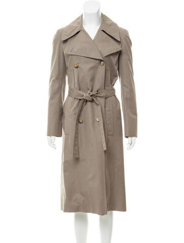 Calvin Klein Collection Double-Breasted Trench Coat None