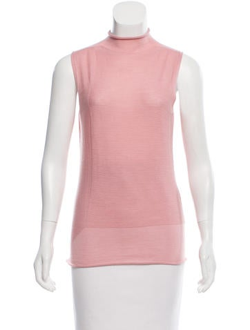 Calvin Klein Collection Wool & Cashmere-Blend Sleeveless Top None