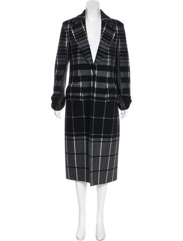 Calvin Klein Collection Wool Check Coat w/ Tags None