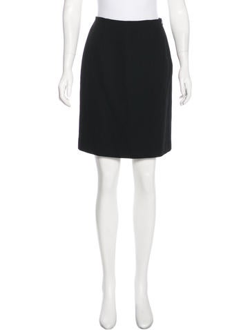 Calvin Klein Collection Knee-Length Wool Skirt None