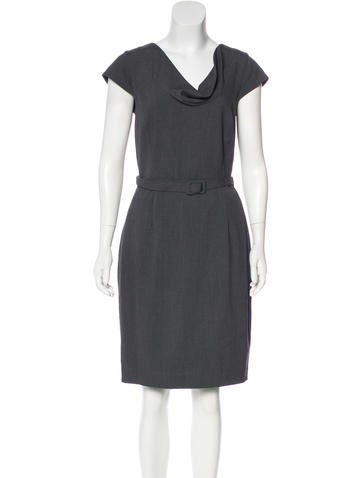 Calvin Klein Collection Belted Sheath Dress None