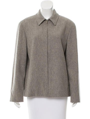 Calvin Klein Collection Wool Knit Jacket None