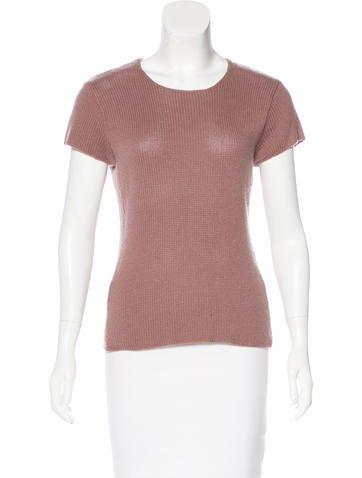 Calvin Klein Collection Cashmere Short Sleeve Top None
