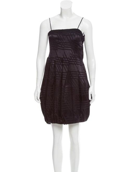 Calvin Klein Collection Fil Coupé Satin Dress Plum