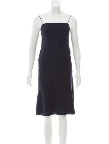 Calvin Klein Collection Sleeveless Silk Dress None