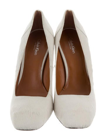 Calvin Klein Collection Ponyhair Square-Toe Pumps low shipping fee for sale VRPgfsG9W