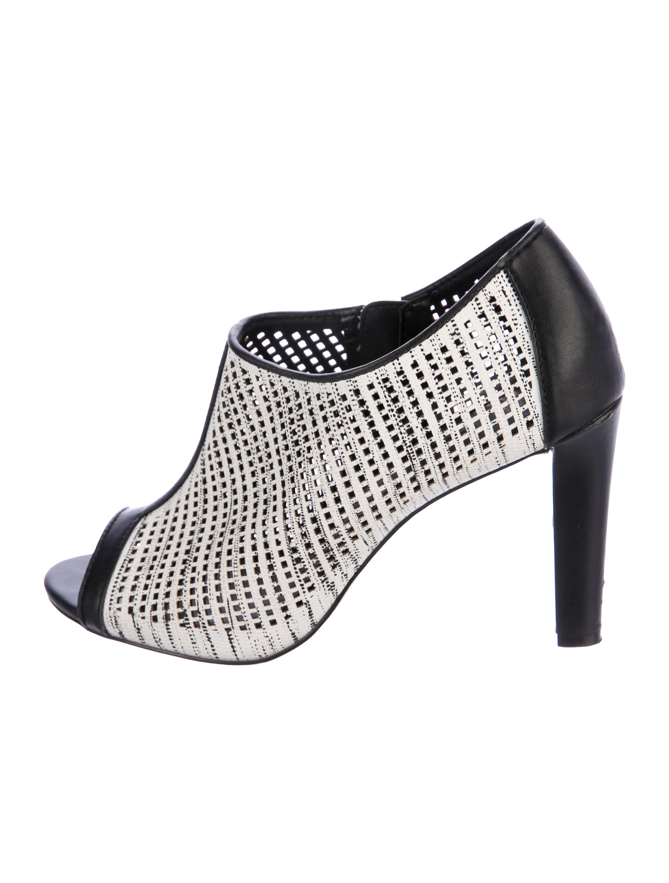 Calvin Klein Collection Perforated Peep-Toe Booties cheap price top quality QmQBLYEfn