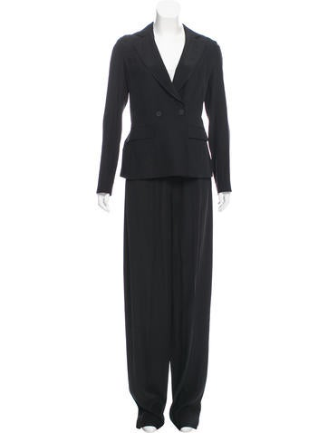 Calvin Klein Collection Silk Mid-Rise Pantsuit w/ Tags None