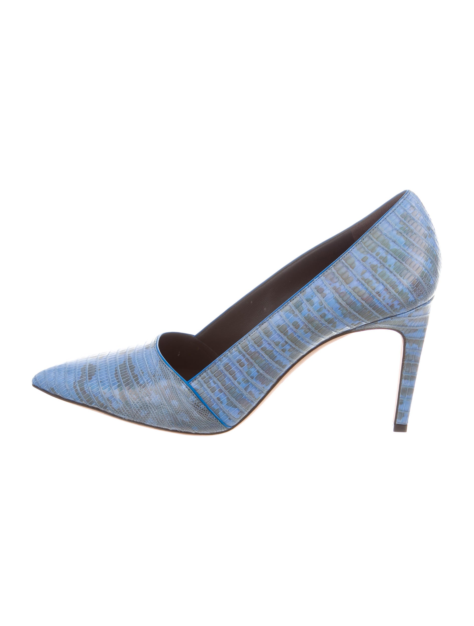 Calvin Klein Collection Iridescent Lizard Pumps w/ Tags affordable online 4yg0EdJ