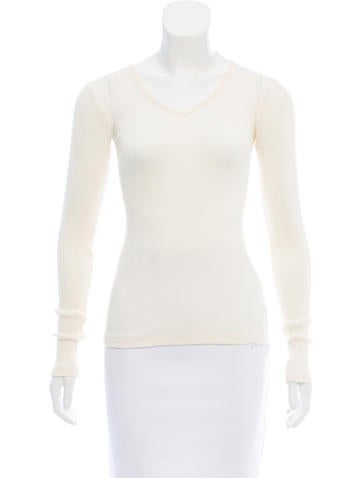 Calvin Klein Collection Wool & Silk Top None