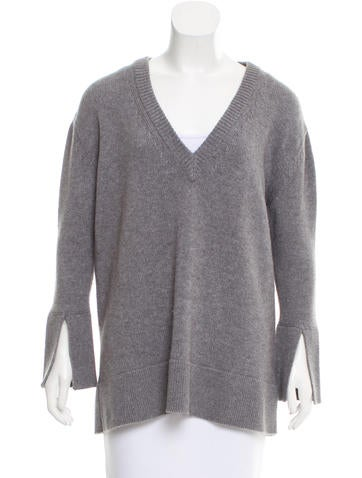 Calvin Klein Collection V-Neck Cashmere Sweater None