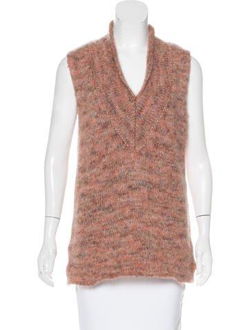 Calvin Klein Collection Mohair Sleeveless Sweater None