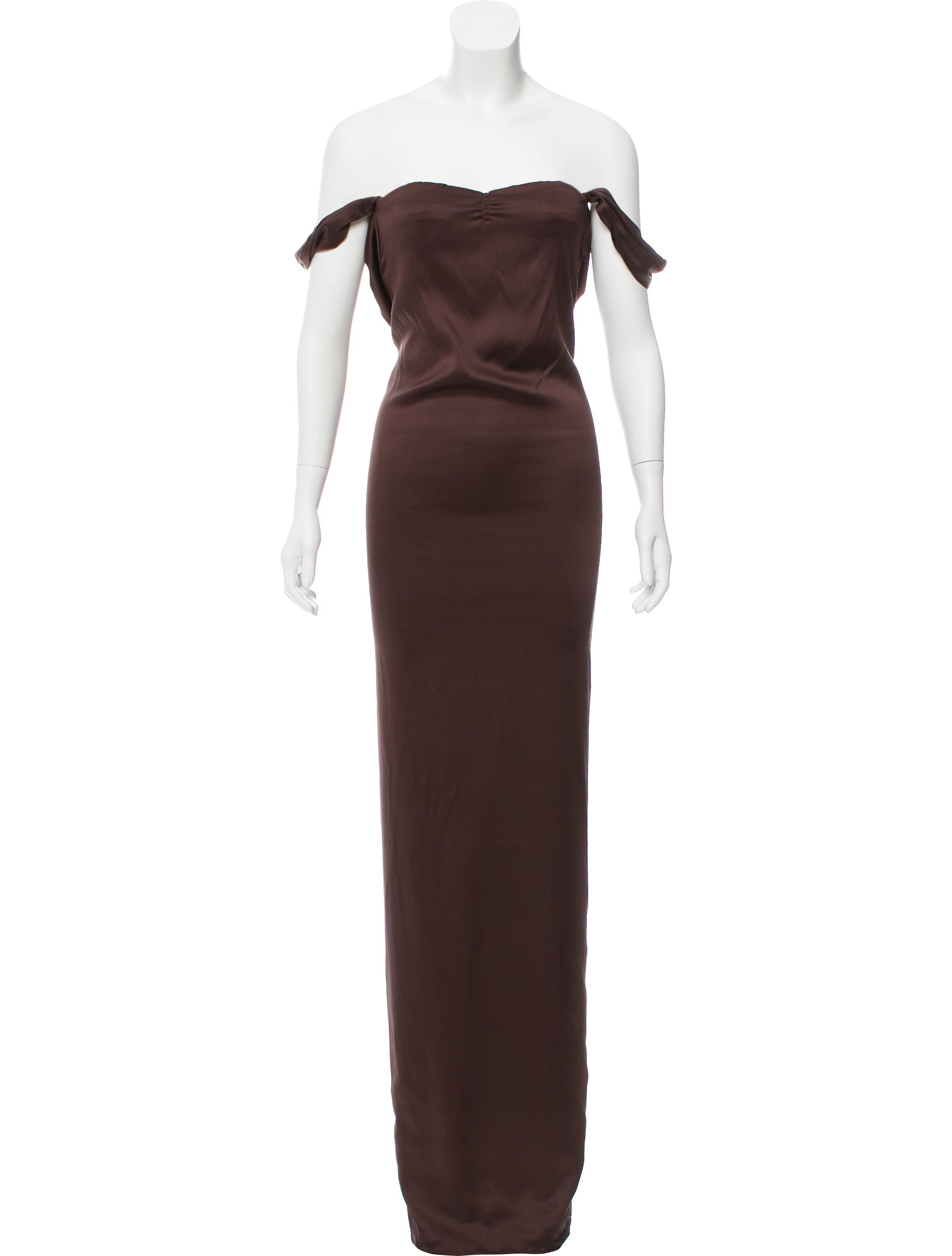 Calvin Klein Collection Sleeveless Evening Gown - Clothing ...