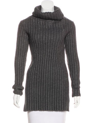 Calvin Klein Collection Merino Wool-Blend Turtleneck Sweater None