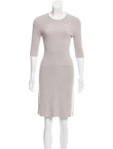 Calvin Klein Collection Rib-Knit Knee-Length Dress None