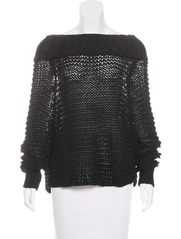 Calvin Klein Collection Knit Long Sleeve Sweater None