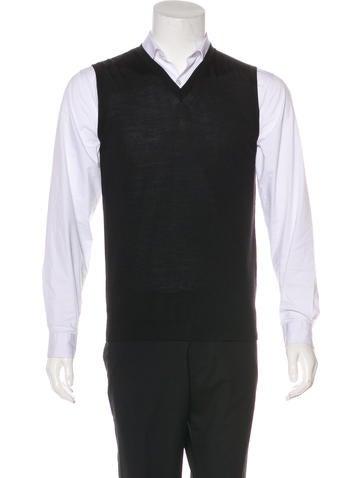 Calvin Klein Collection Wool-Blend Sweater Vest None