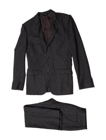Calvin Klein Collection Wool & Cashmere-Blend Suit None