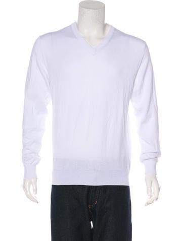 Calvin Klein Collection Knit V-Neck Sweater None