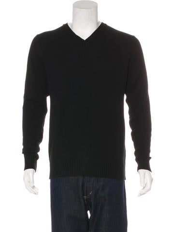 Calvin Klein Collection Wool-Blend V-Neck Sweater None