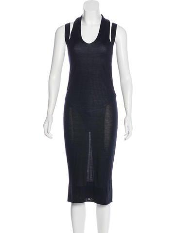 Calvin Klein Collection Sleeveless Silk Knit Dress w/ Tags None