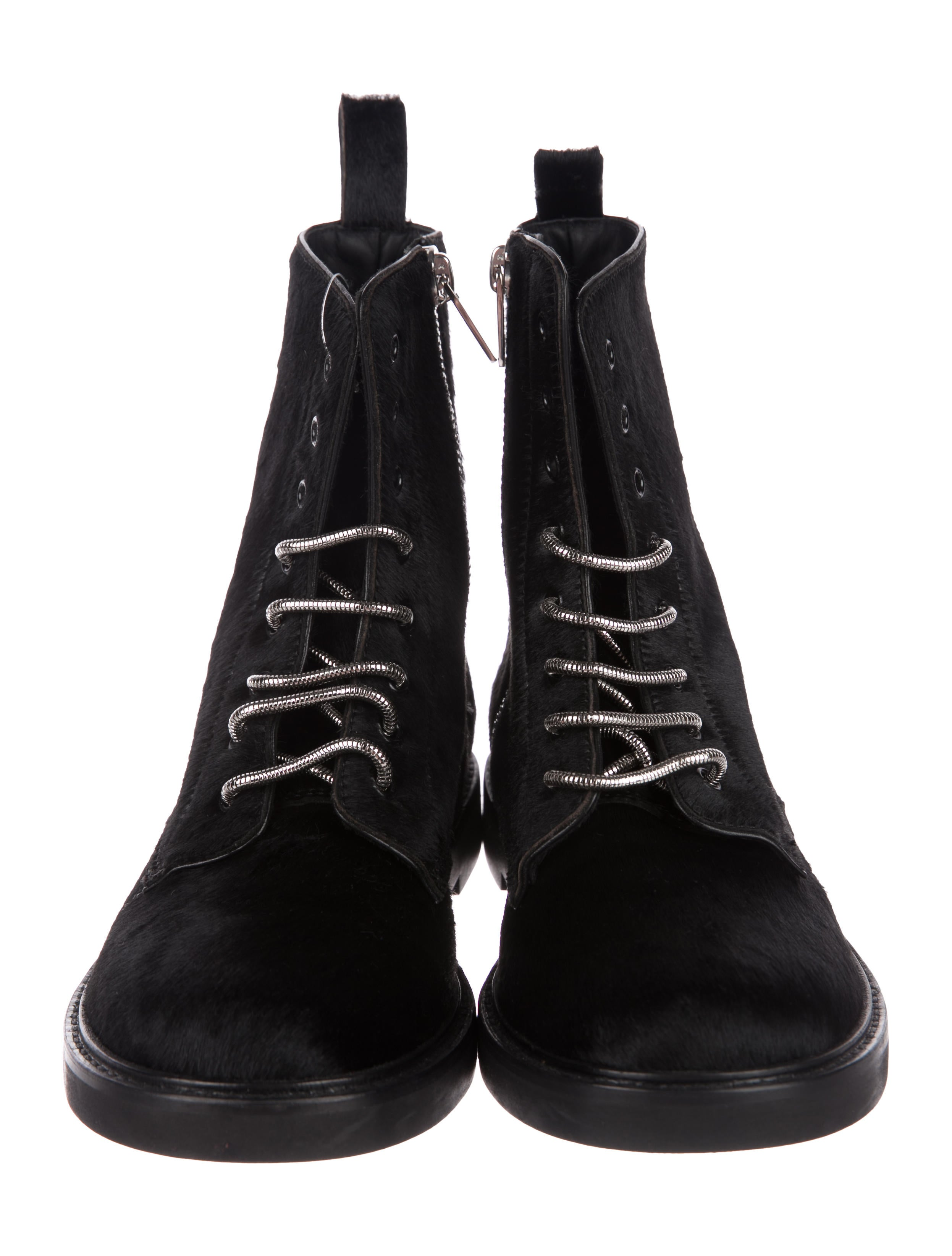 Calvin Klein Collection Ponyhair Lace-Up Boots websites cheap online 2015 new cheap price discount top quality genuine EQWUoQf