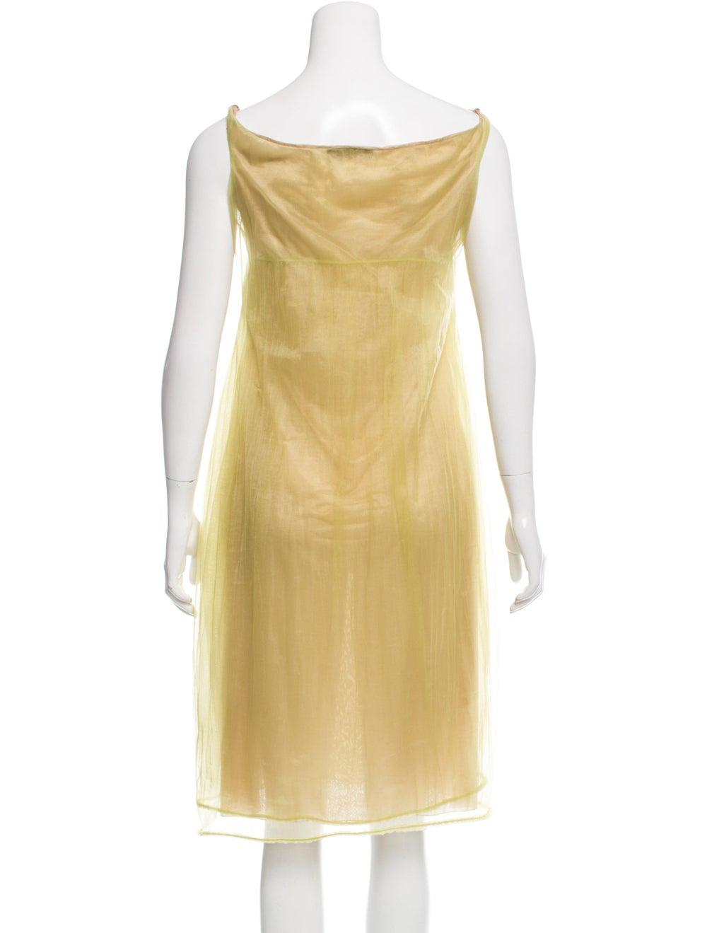 Calvin Klein Collection Semi-Sheer Midi Dress Gre… - image 3