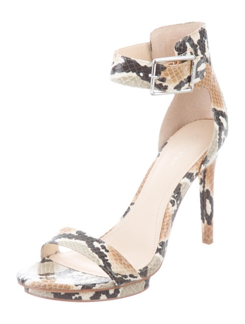 d95b8f950a7 Calvin Klein Collection Vivian Geo Snakeskin Sandals - Shoes ...