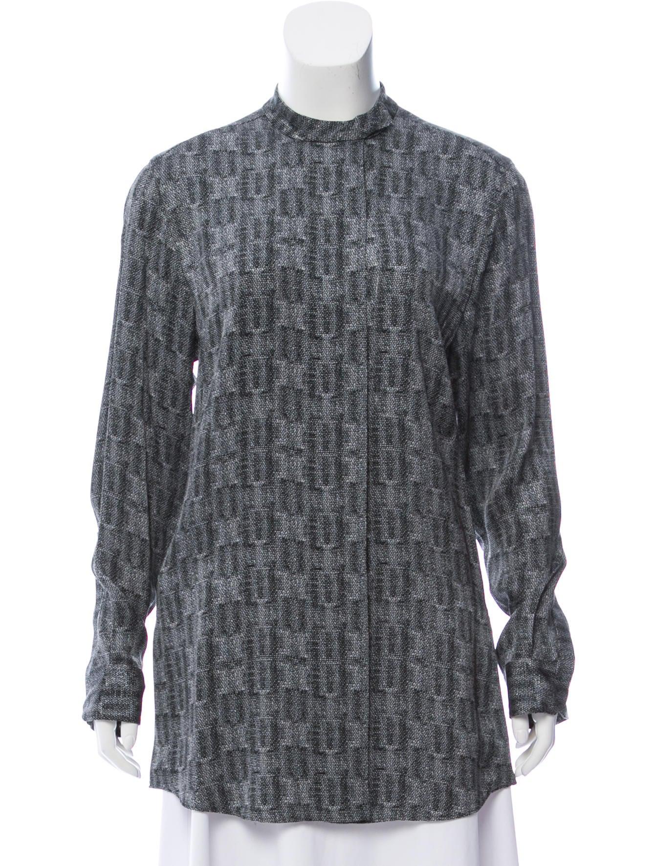 191f87d032c4 Calvin Klein Collection Animal Print Silk Blouse - Clothing ...