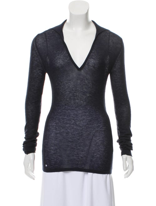 Calvin Klein Collection Collared Rib Knit Sweater