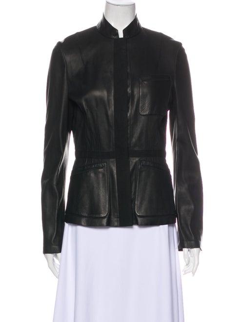 Calvin Klein Collection Leather Jacket Black