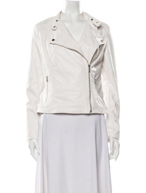 Calvin Klein Collection Biker Jacket White