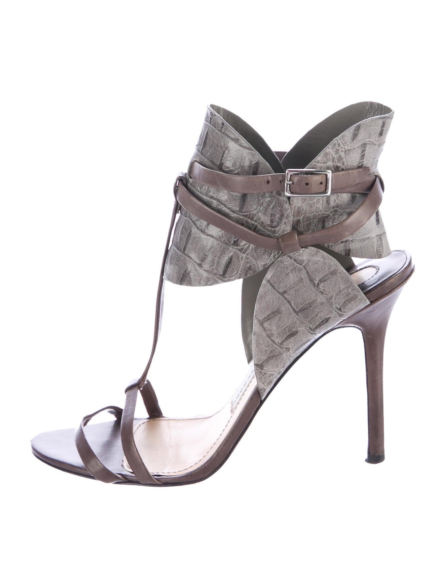 Camilla Skovgaard Embossed Ankle Strap Sandals online sale online s0gn1I