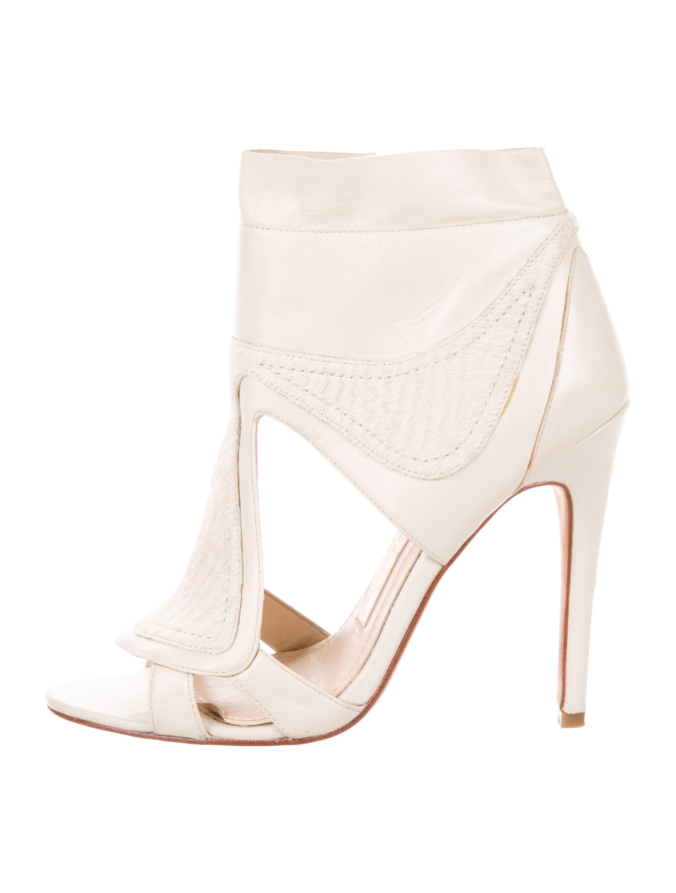 discount with mastercard Camilla Skovgaard Ponyhair-Accented Cutout Booties sale marketable clearance cheap price visit cheap online skEVE