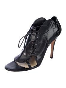 Camilla Skovgaard Leather Whipstitch Trim Slingback Sandals