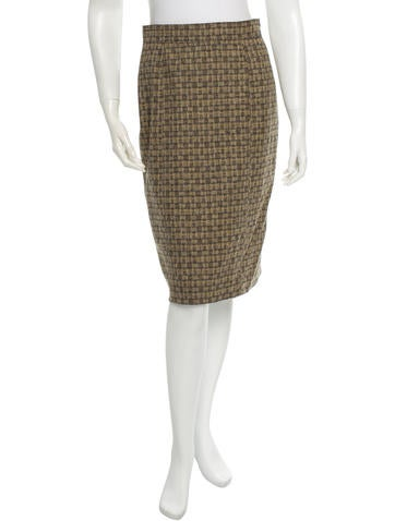 Carolina Herrera Wool Skirt None