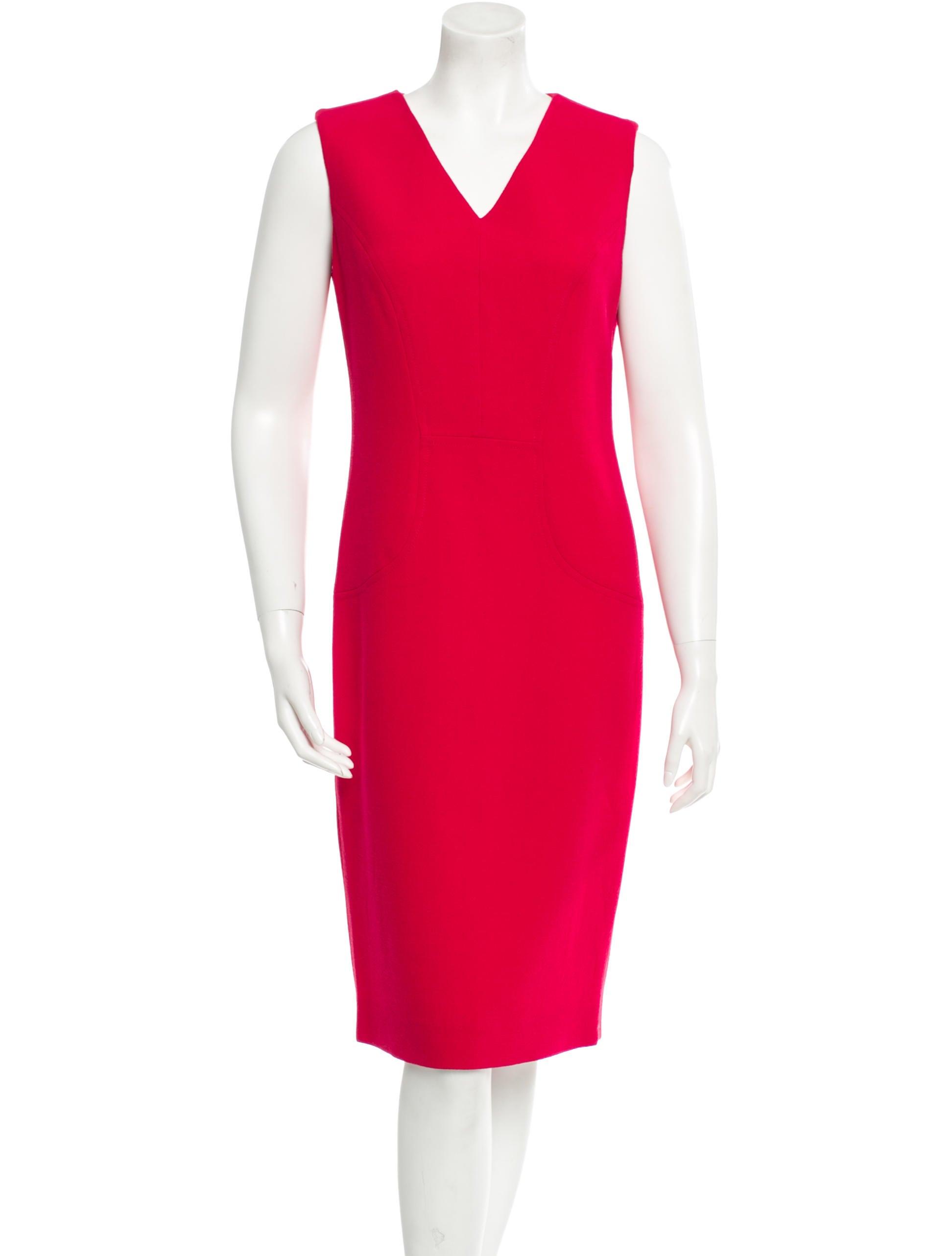 carolina herrera wool dress clothing cao23720 the