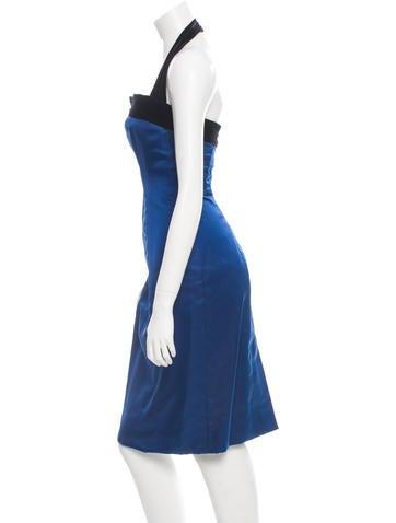 carolina herrera cocktail dress clothing cao24014