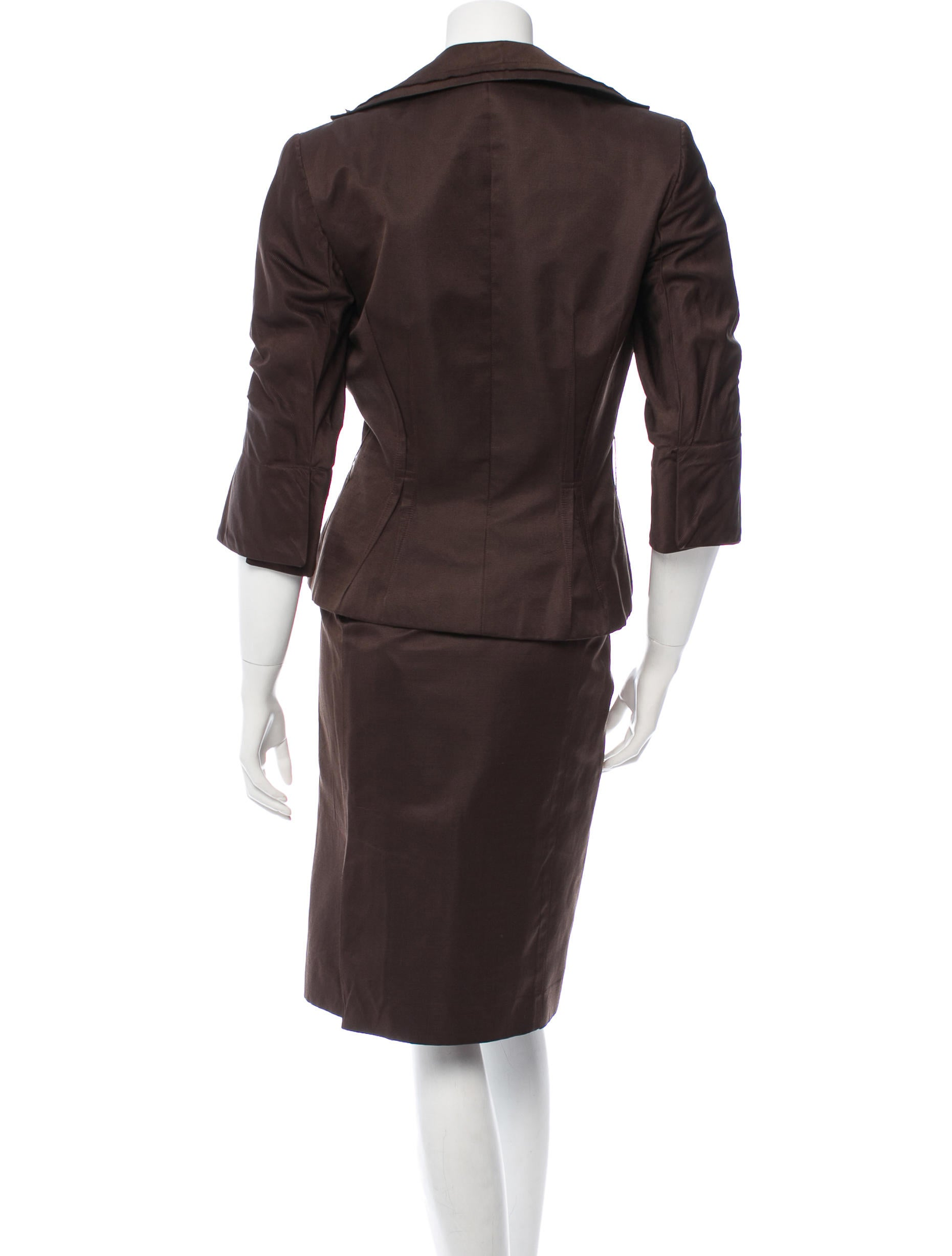 Brown Skirt Suits 54
