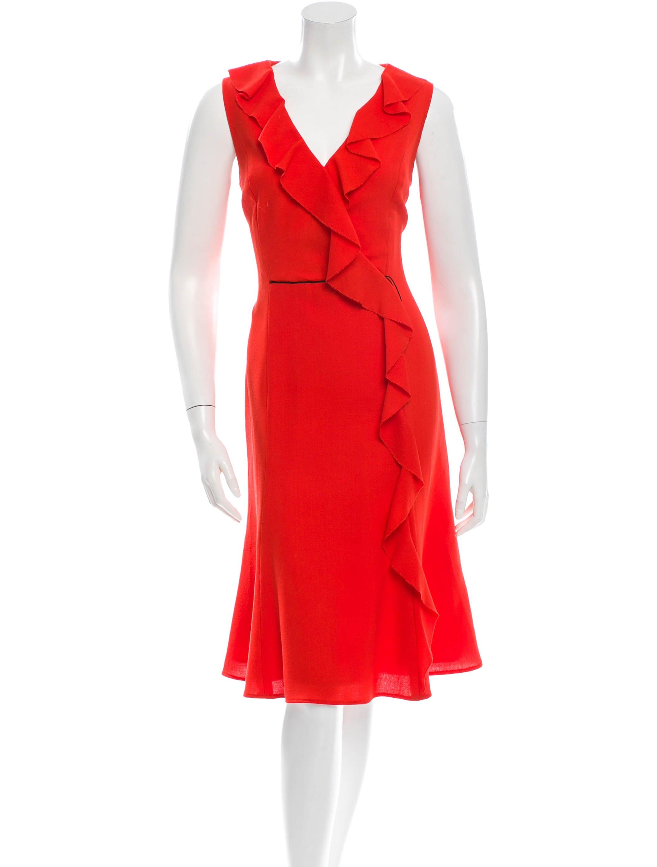 carolina herrera wool dress clothing cao24833
