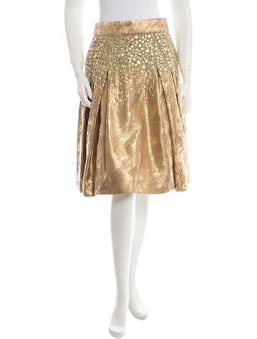 Carolina Herrera Brocade Skirt w/ Tags