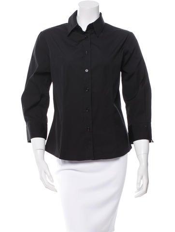 Carolina Herrera Long Sleeve Button-Up Top None