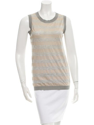 Carolina Herrera Striped Silk Top None