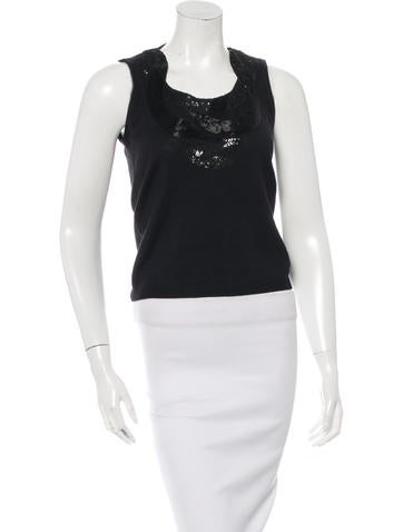 Carolina Herrera Wool Embellished Top None