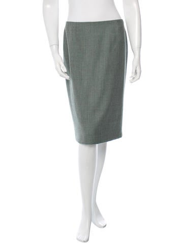 Carolina Herrera Wool Patterned Skirt None