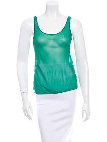 Carolina Herrera Sheer Sleeveless Top None