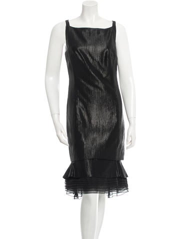 Carolina Herrera Coated Wool Dress None