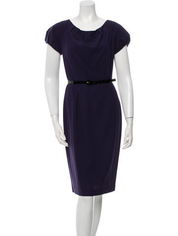 Carolina Herrera Wool Sheath Dress None