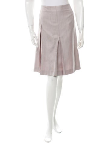 Carolina Herrera Silk & Wool Skirt None